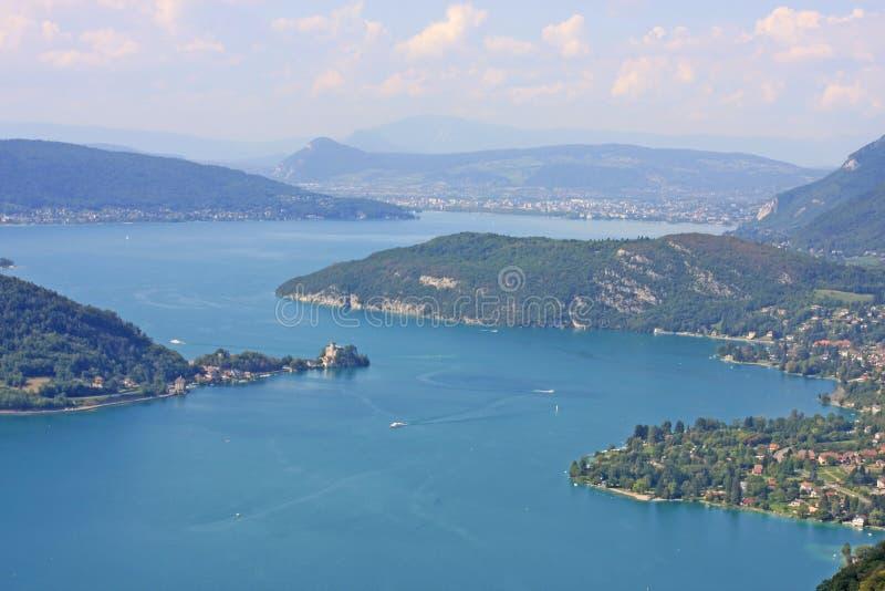 Lago Annecy, Francia fotografía de archivo