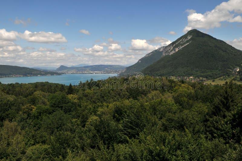 Lago Annecy in Haute Savoie immagine stock libera da diritti