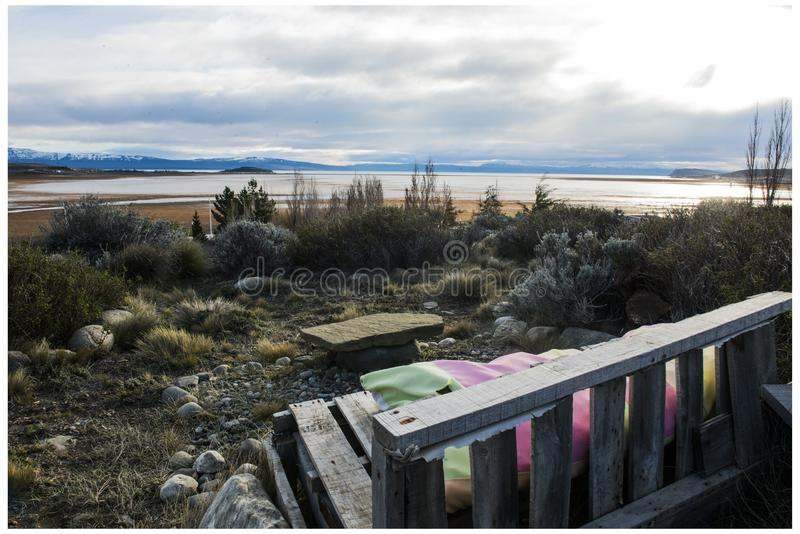 Lago Argentino - аргентинское озеро - Calafate стоковая фотография rf