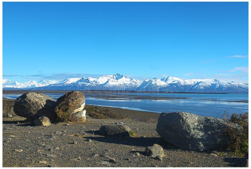 Lago Argentino - lago argentino - Calafate fotos de archivo