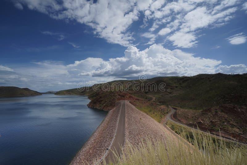 Lago Argyle Dam foto de archivo libre de regalías