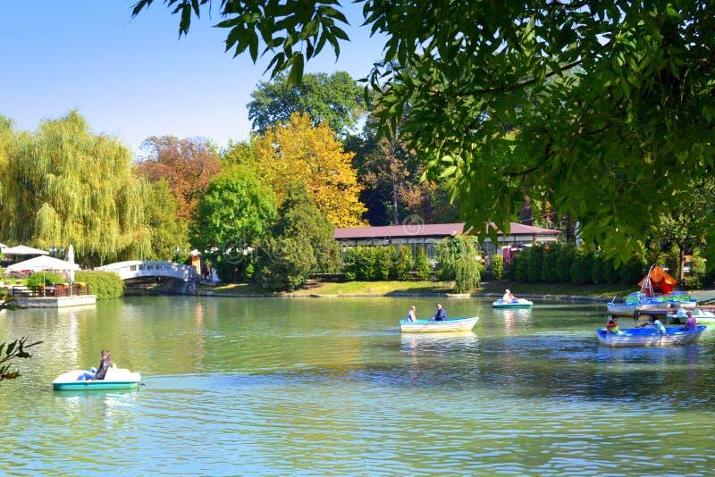 Lago Ariana, Sofia Bulgaria imagem de stock royalty free