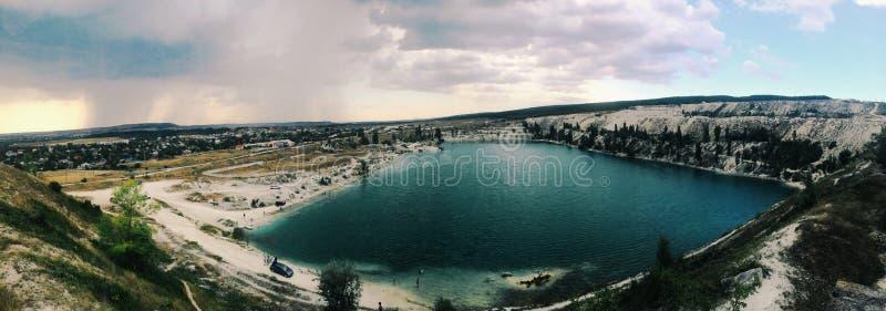 Lago artificial fotografia de stock