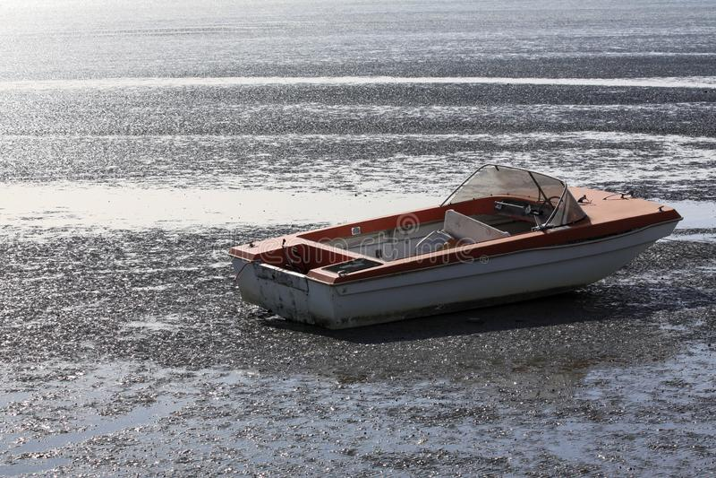 Lago asciugato fotografie stock