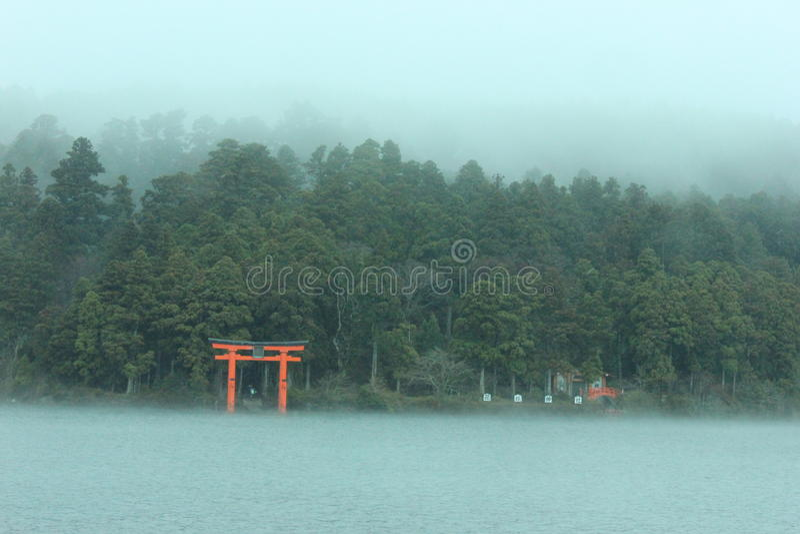 Lago Ashi em Hakone fotos de stock royalty free
