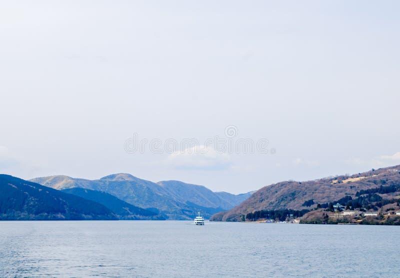Lago Ashi, Hakone, Japão imagem de stock