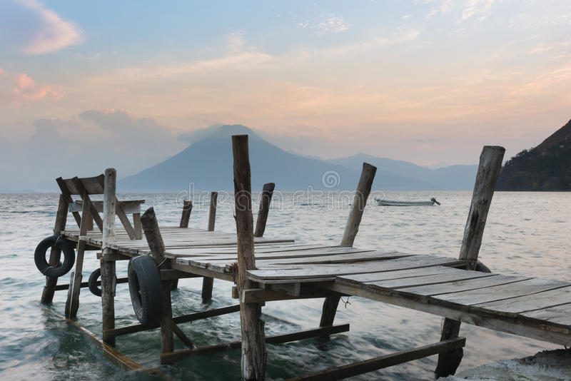 Lago Atitlan fotografie stock