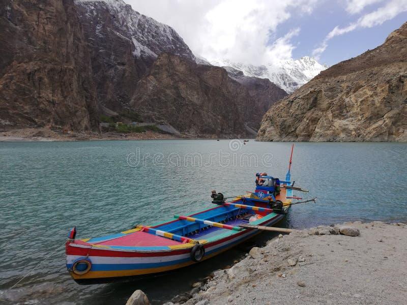 Lago Attabad, Hunza, Gilgit Baltistan, Pakistan immagini stock
