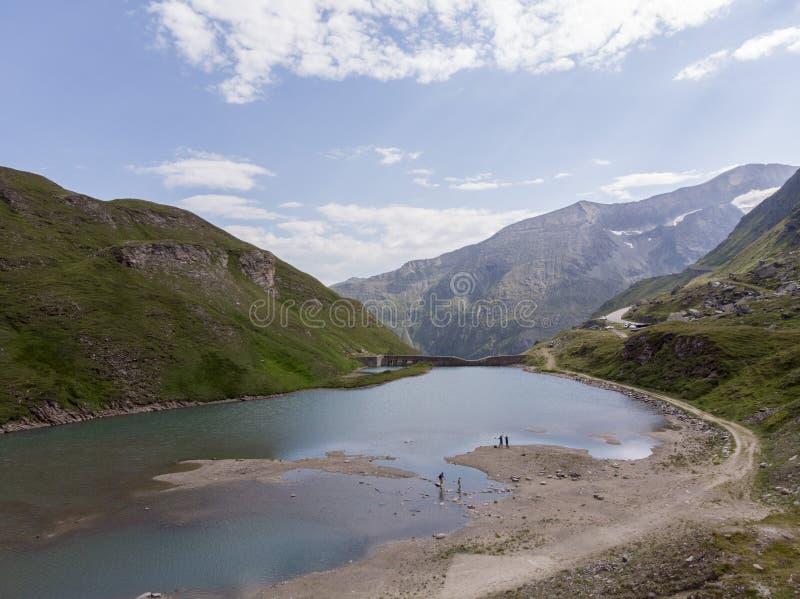Lago austríaco dos alphs fotografia de stock