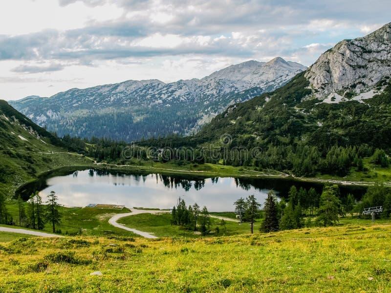 Lago austria Kaprun fotografía de archivo