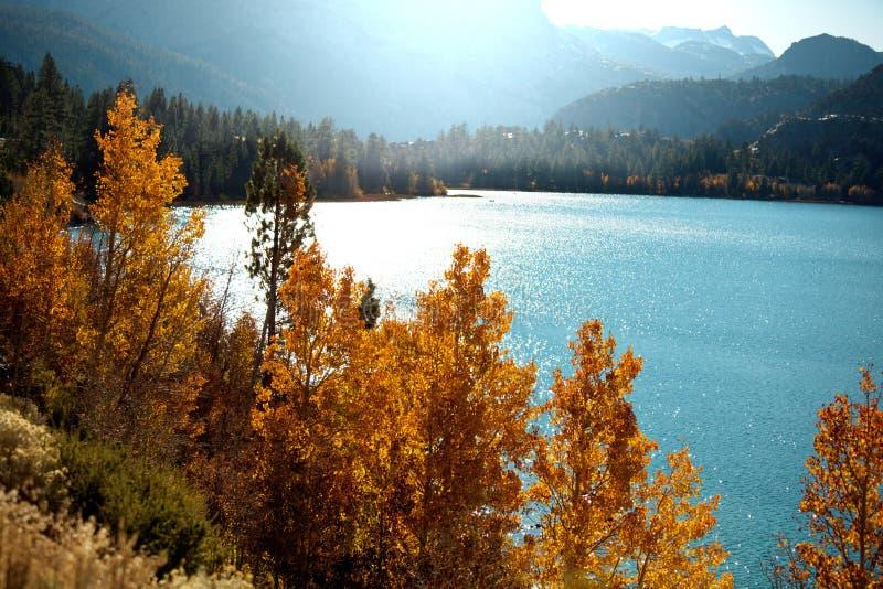Lago autumn immagine stock