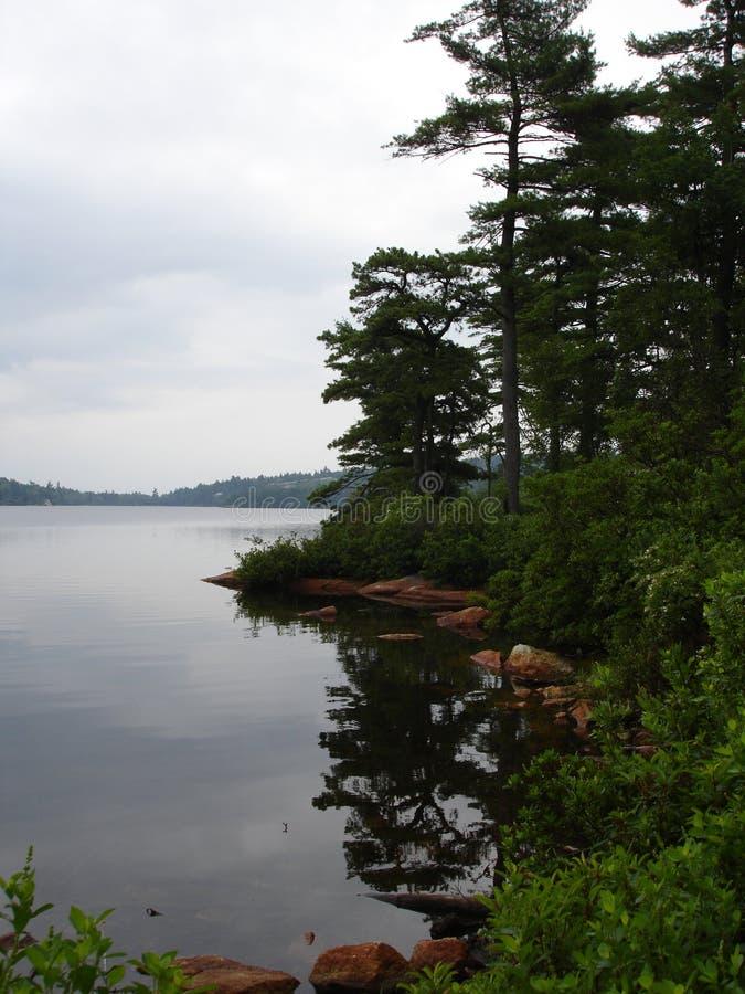 Lago Awosting, dia chuvoso fotos de stock