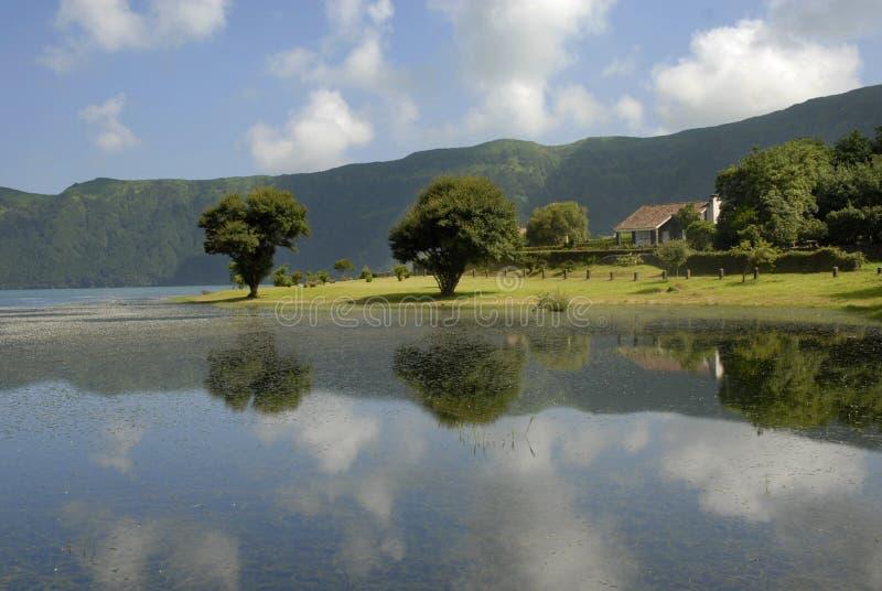 Lago azores immagini stock libere da diritti