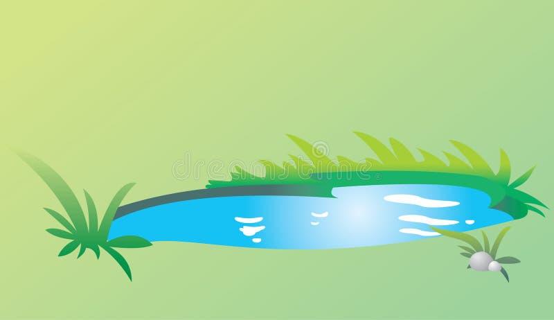 Lago azul ilustração royalty free