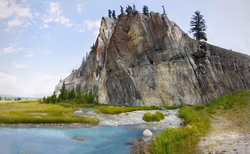 Lago azul, jaspe, Canadá fotografia de stock