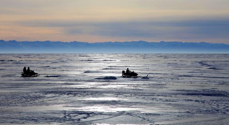 Lago Baikal congelado imagens de stock