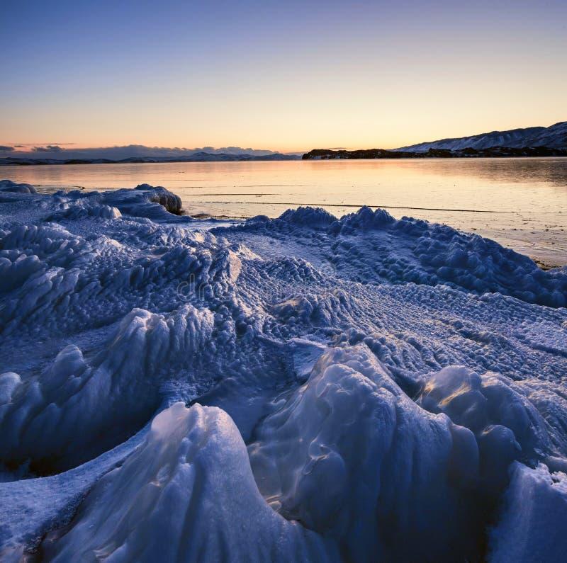 Lago Baikal in inverno fotografia stock libera da diritti