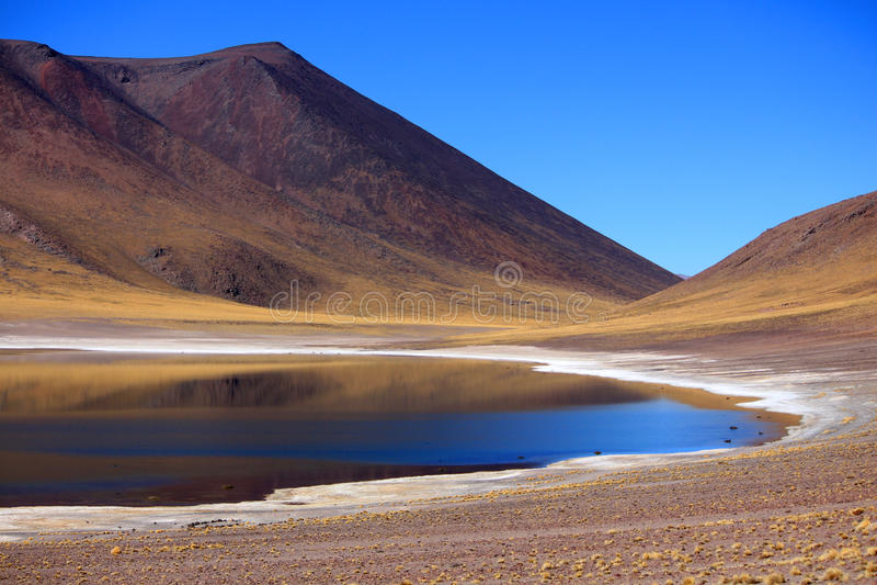 Lago bajo el cielo azul fotografía de archivo libre de regalías