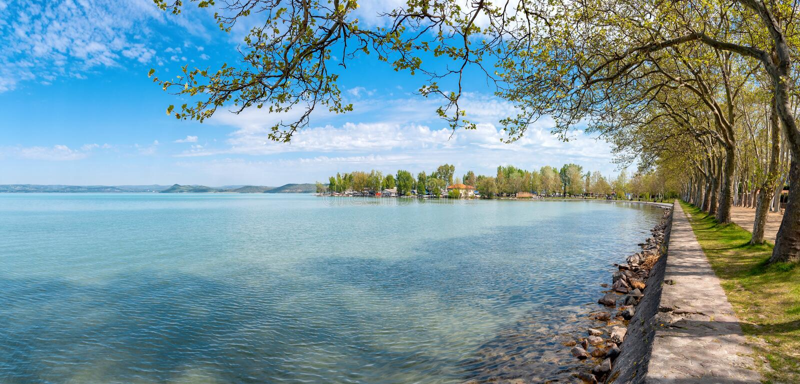 Lago Balaton - ¡ r di Balatonföldvà - Somogy - l'Ungheria fotografia stock libera da diritti