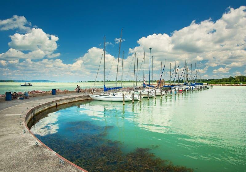 Lago Balaton fotografia de stock