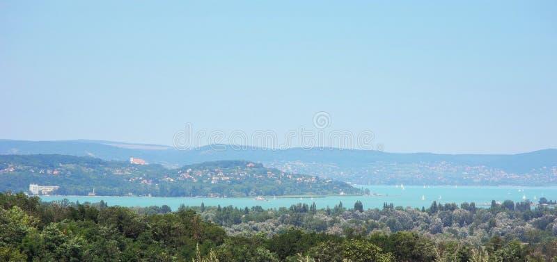 Lago Balaton en Hungría imagen de archivo libre de regalías