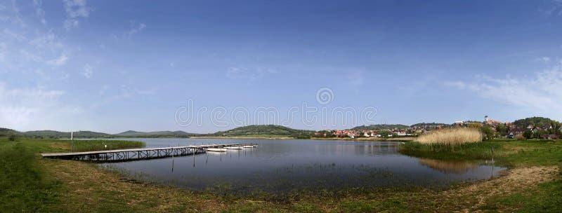 Lago Balaton in Tihany fotografie stock libere da diritti