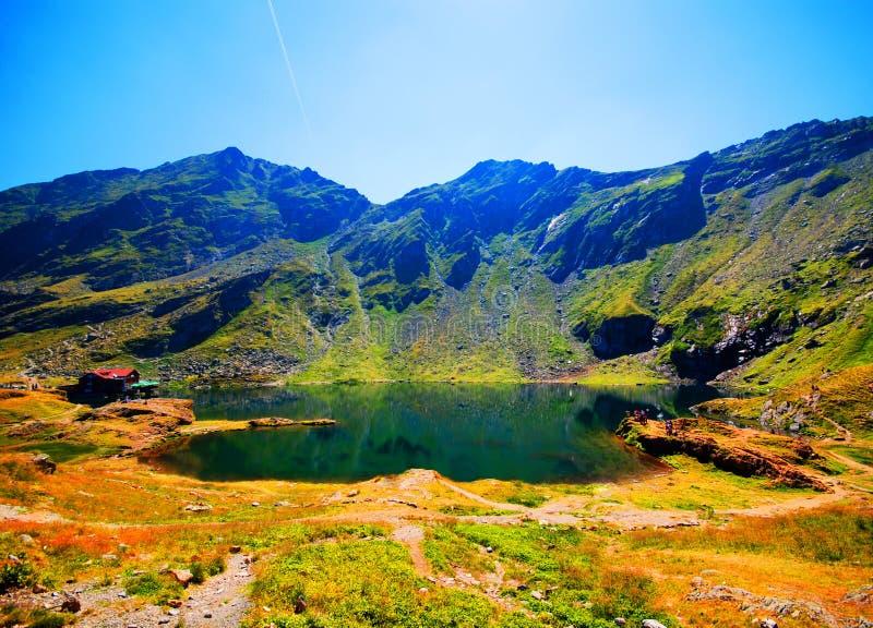 Lago Balea en Rumania imagen de archivo libre de regalías