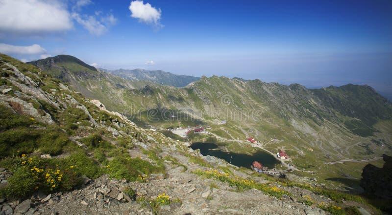 Lago Balea, montagne di Fagaras, la Transilvania, Romania fotografia stock libera da diritti