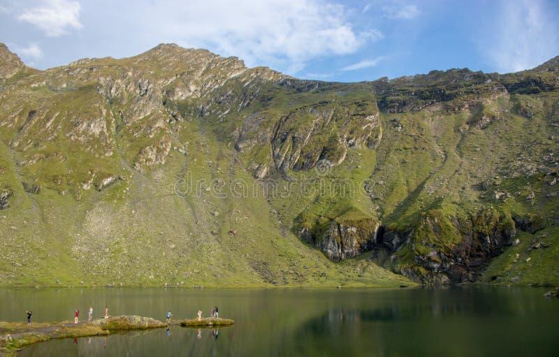 Lago Balea in Romania fotografia stock libera da diritti