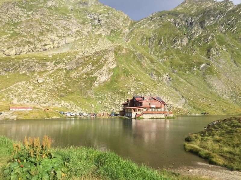 Lago Balea Romania fotografia stock libera da diritti