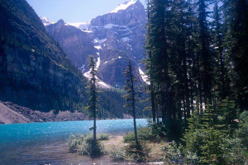 Lago Banff Canadá fotografía de archivo libre de regalías