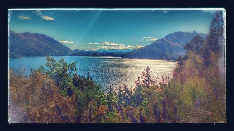 Lago Bariloche del paisaje de la naturaleza foto de archivo libre de regalías