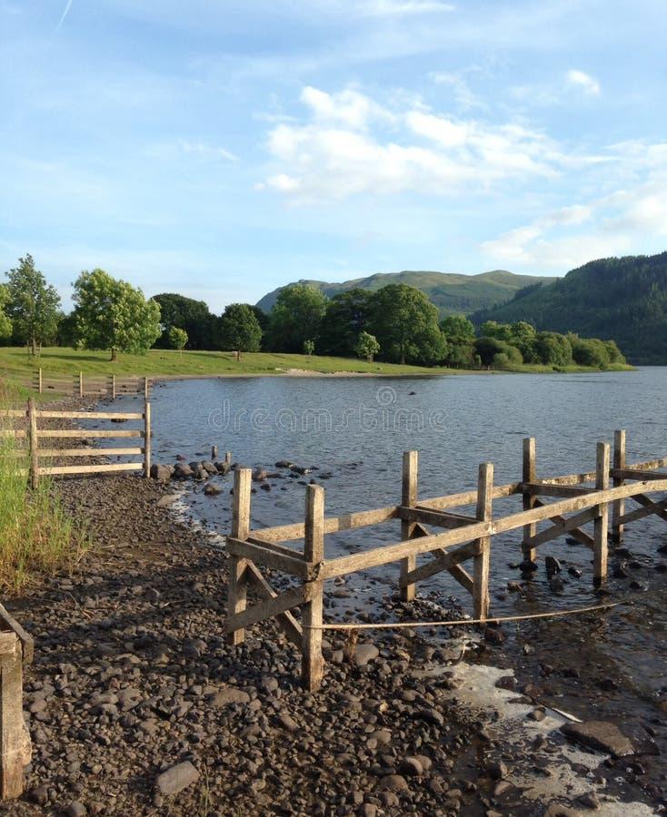 Lago Bassenthwaite fotografía de archivo