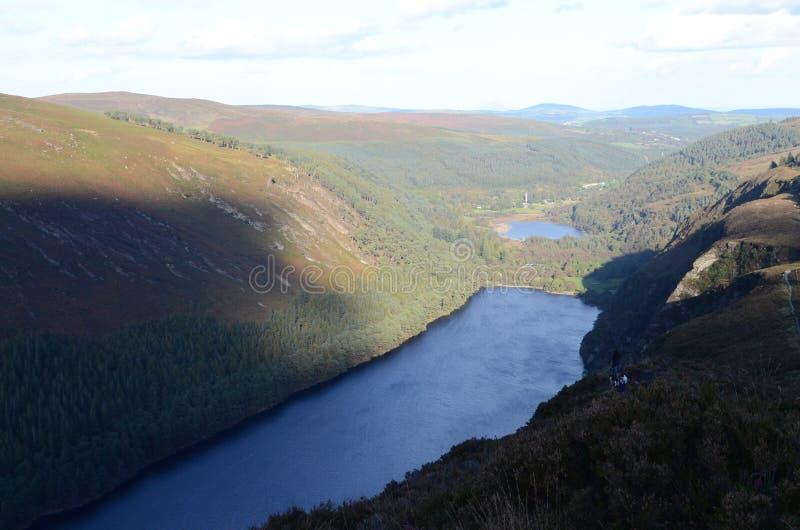 Lago Beagh del Lough, Mountain View del parco nazionale di Glenveagh in Irlanda immagini stock libere da diritti