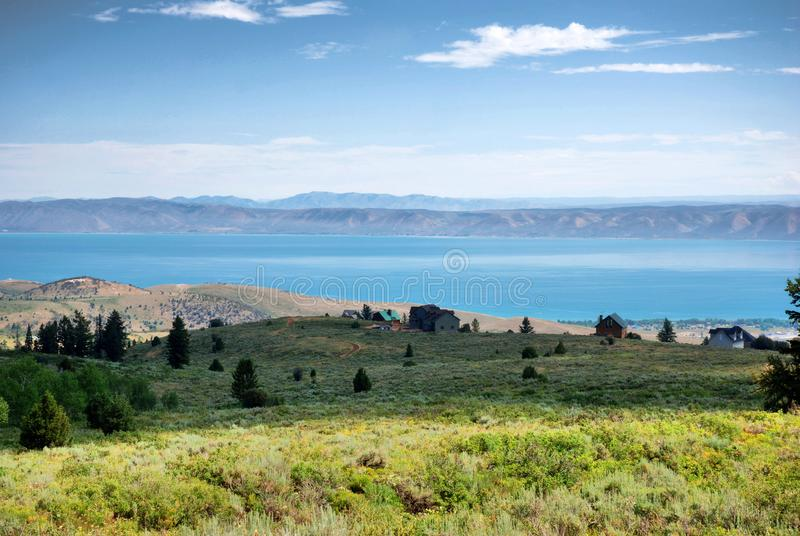 Lago bear na beira Utá - Idaho imagem de stock