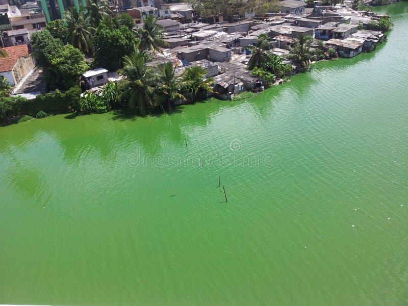 Lago beira foto de stock