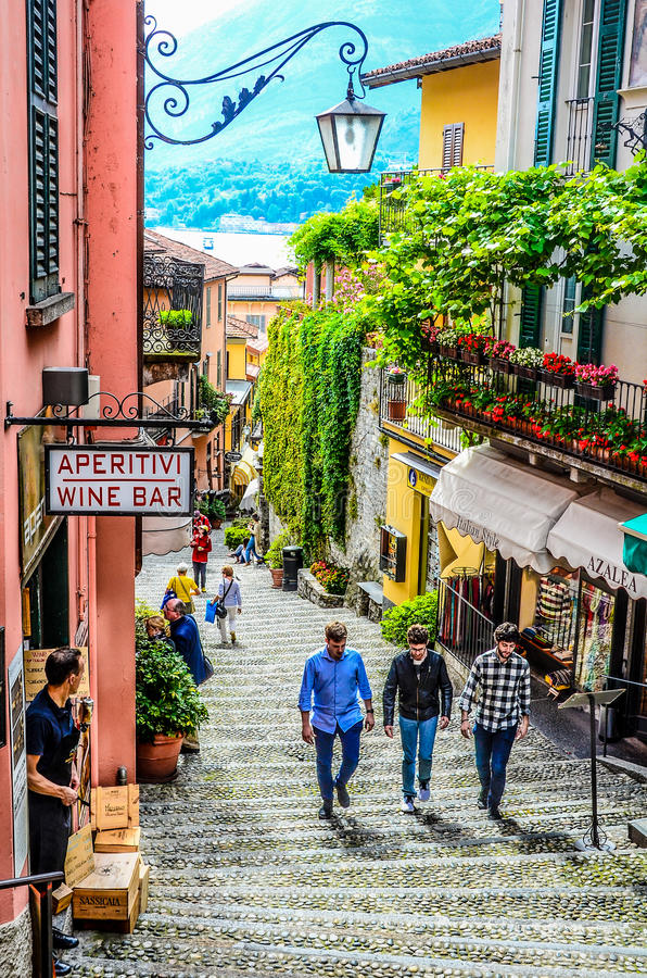 Lago bellagio Como - Italia 2016 imagen de archivo