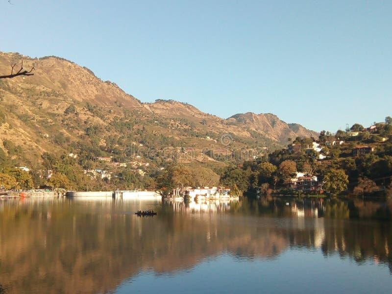 Lago Bhimtal imagen de archivo