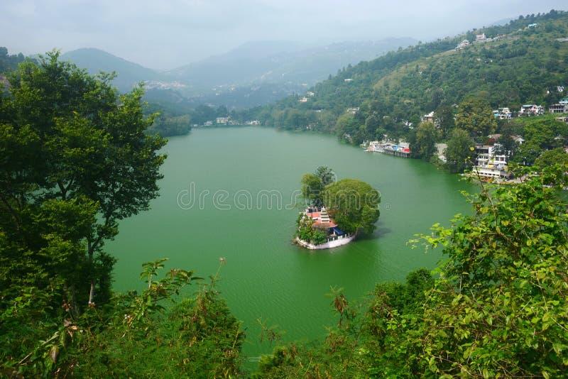 Lago Bhimtal fotos de archivo