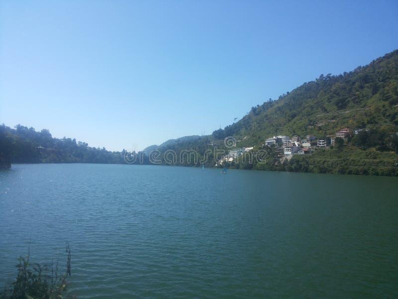 Lago Bhimtal fotografia stock