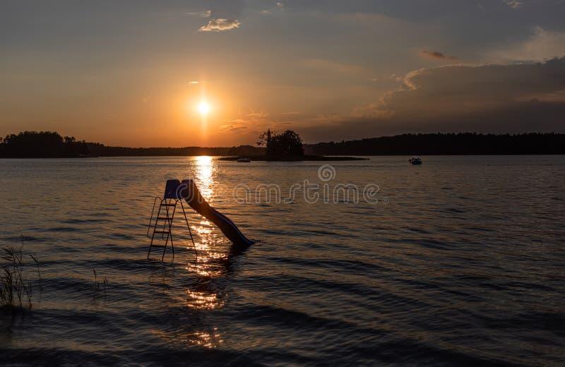 Lago Biale in Augustow poland fotografie stock libere da diritti