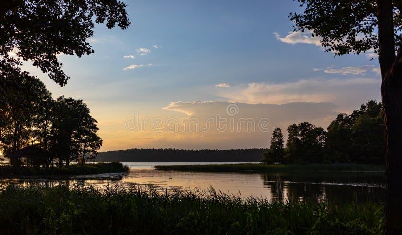 Lago Biale in Augustow poland immagini stock