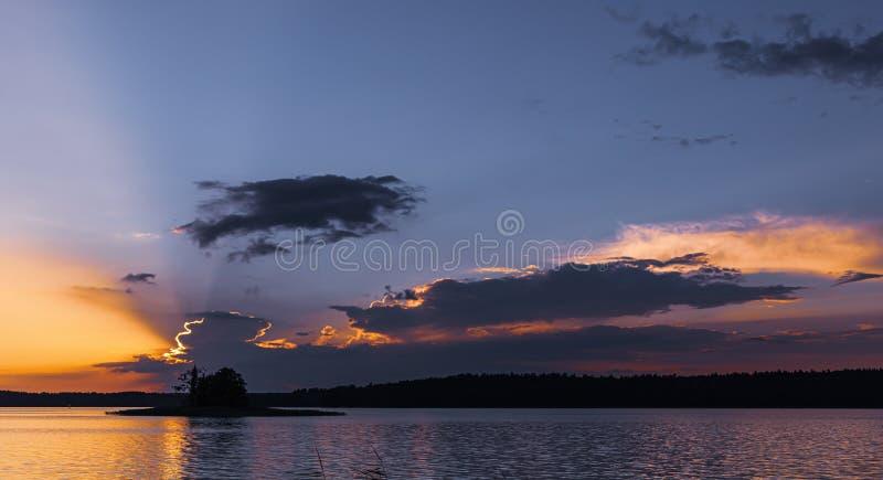 Lago Biale in Augustow poland fotografia stock