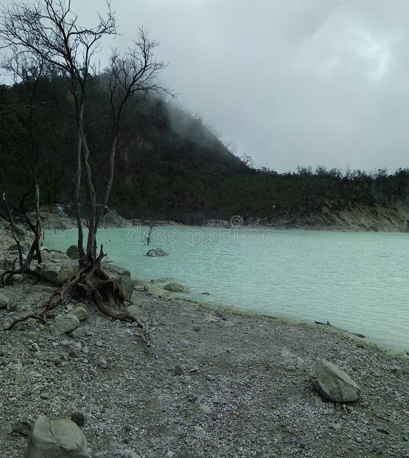 lago bianco Bandung fotografia stock