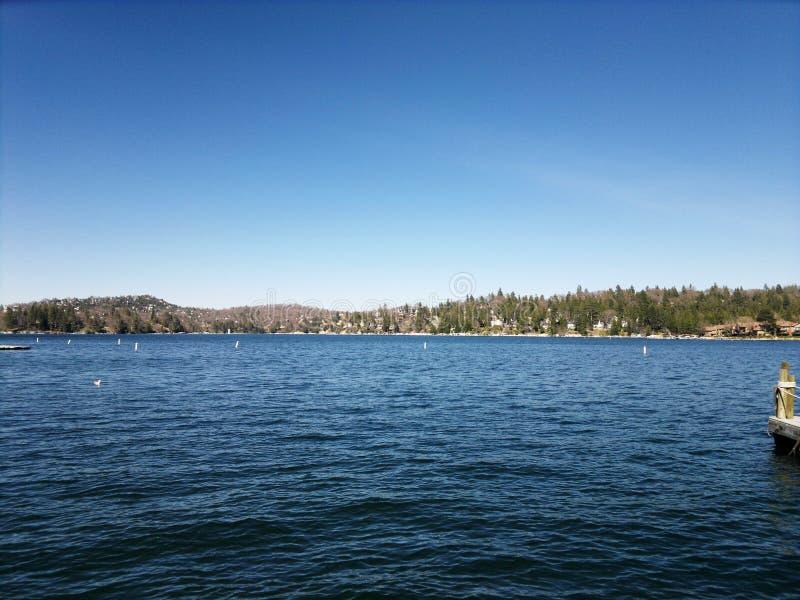Lago big Bear imagenes de archivo