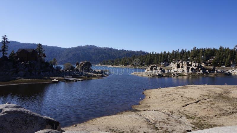 Lago big Bear imagem de stock