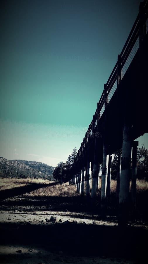 Lago Big Bear bridge fotografia stock