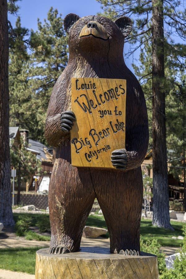 Lago big Bear, CA 1° giugno 2015 fotografia stock libera da diritti