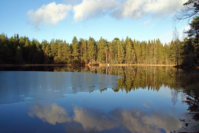 Lago blu mirror fotografie stock