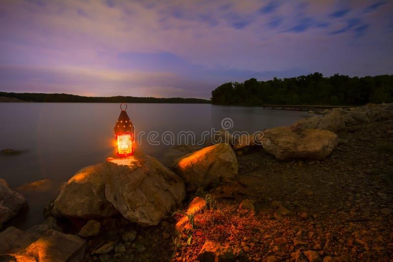 Lago blue Springs alla notte fotografia stock libera da diritti